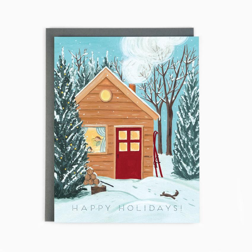 Made in Brockton Village - Holiday Cottage Card