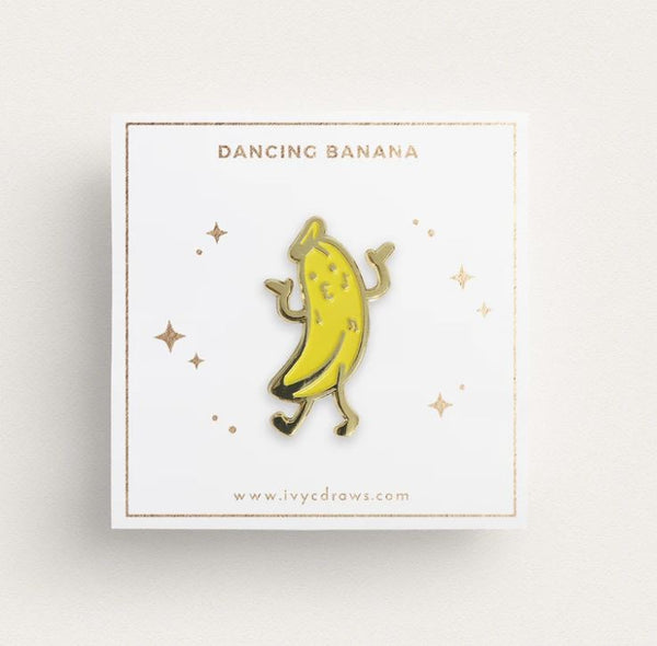 Ivy c Draws - Dancing Banana Pin