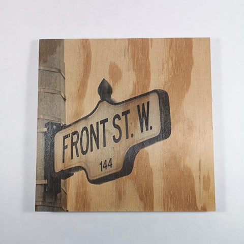 Resurfaced - Front St. Sign Wood Print 8x8""