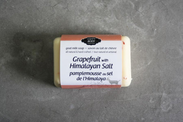 Happy Body Collection - Grapefruit with Himalayan Salt Goat Milk Soap
