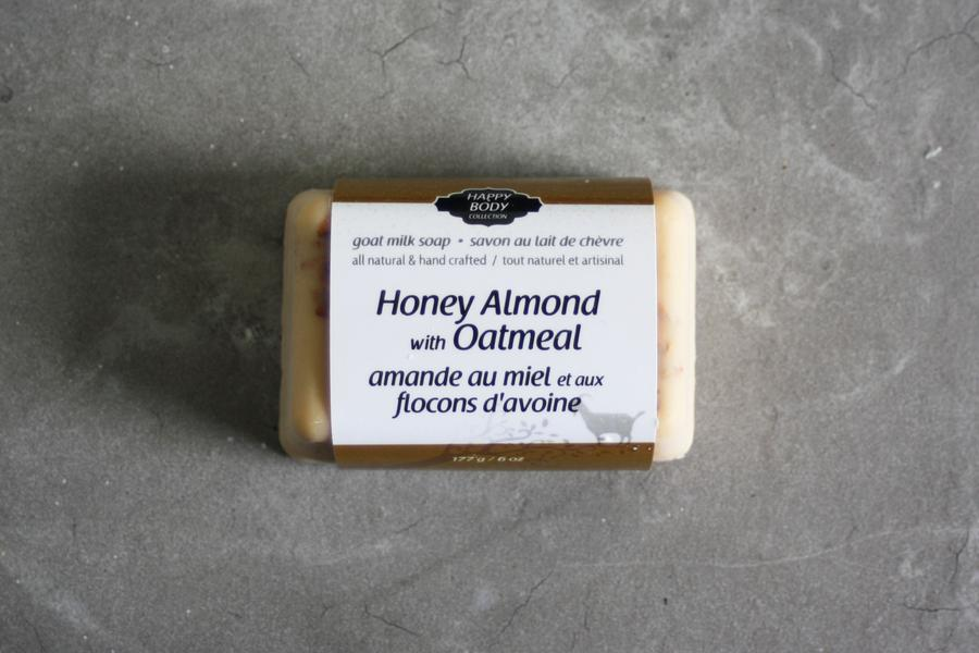 Happy Body Collection - Honey Almond with Oatmeal Goat Milk Soap