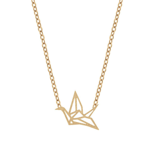 PRYSM - Origami Crane Necklace Gold