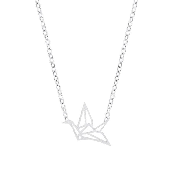 PRYSM - Origami Crane Necklace Silver