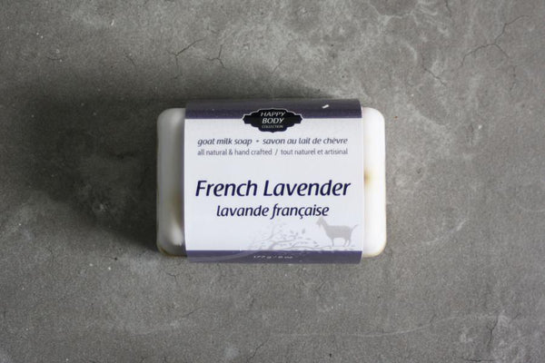 Happy Body Collection - French Lavender Goat Milk Soap