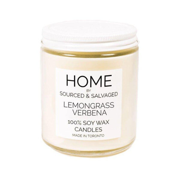 Sourced & Salvaged Soy Candle - Lemongrass Verbena