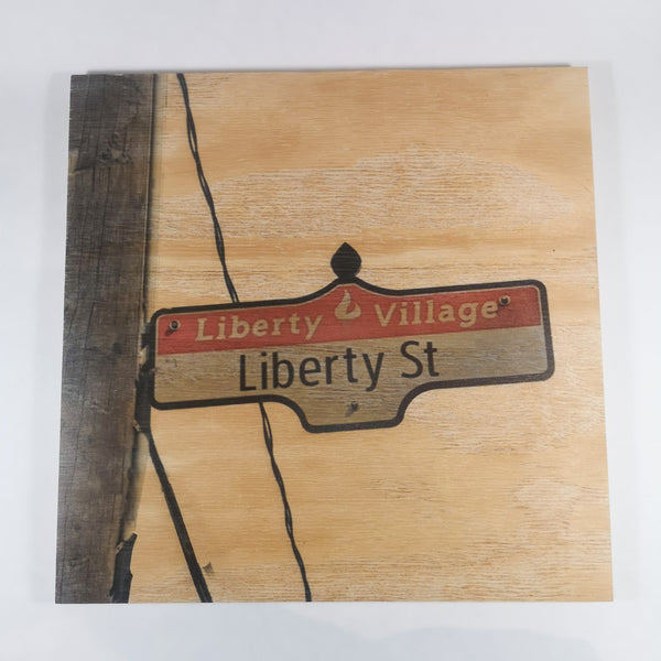 Resurfaced - Liberty St. Sign Wood Print 12x12""