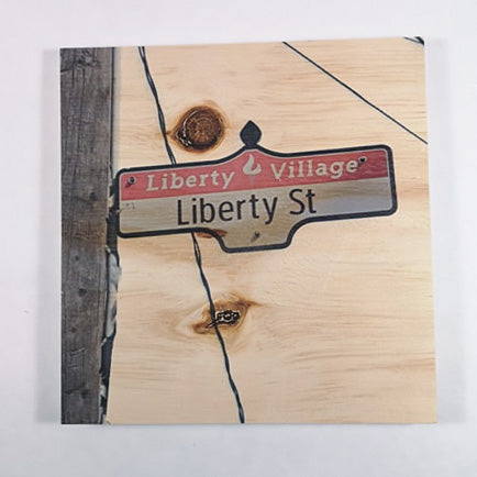 Resurfaced - Liberty St. Sign Wood Print 8x8""