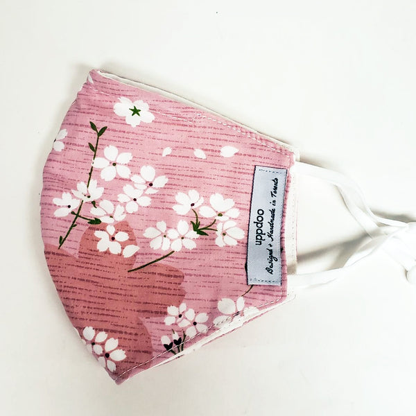 Non-medical Adult Mask - Pink Cherry Blossom