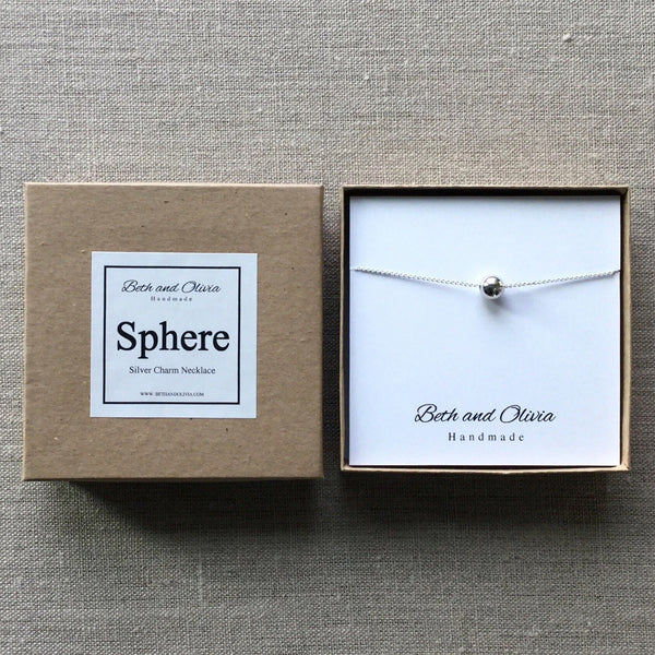 Beth + Olivia - SILVER SPHERE NECKLACE