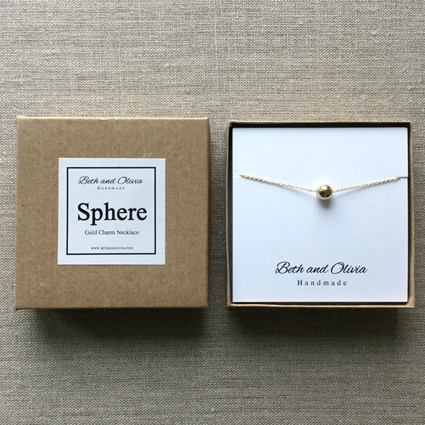 Beth + Olivia - GOLD SPHERE NECKLACE