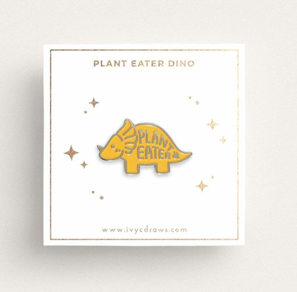 Ivy c Draws - Plant Eater Dino Pin