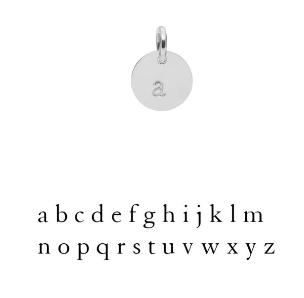 Muizee Initial Charm Silver
