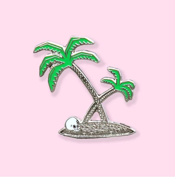Crywolf - Silver Palms Enamel Pin