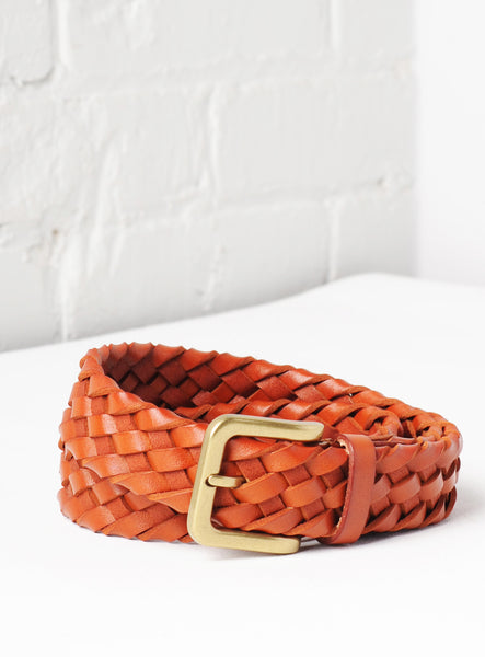 'Tuscany' Hand-Woven Leather Belt - Royal Tan