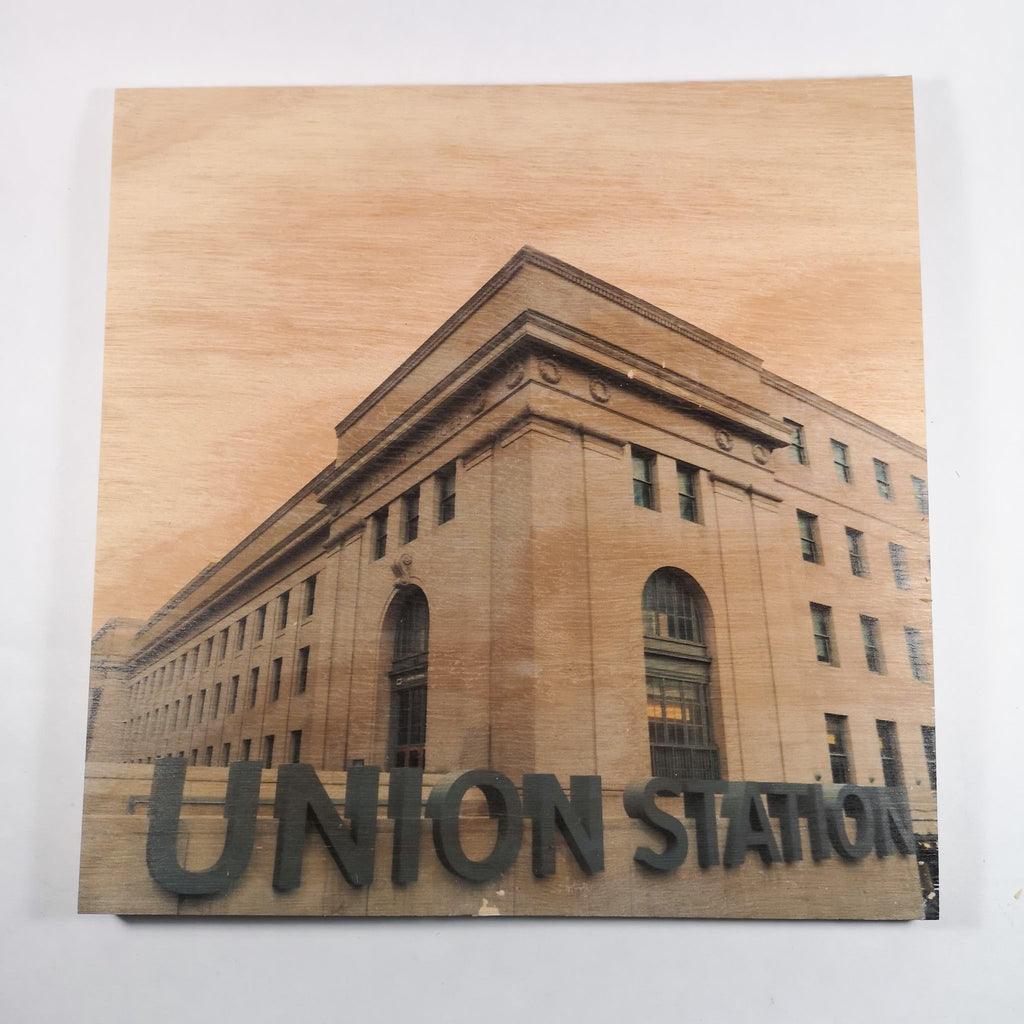 Resurfaced - Union Station Wood Print 12x12""