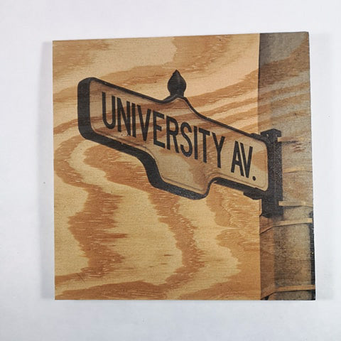 Resurfaced - University Av. Wood Print 8x8""