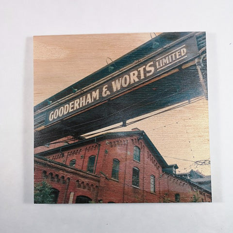 Resurfaced - Gooderham & Worts Wood Print 8x8""