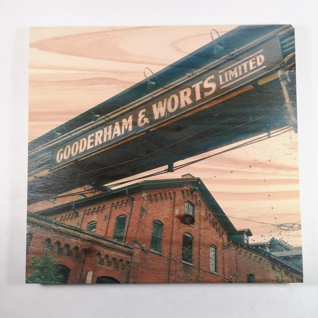 Resurfaced - Gooderham & Worts Wood Print 12x12""