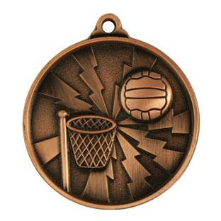 Lightening Netball Medal freeshipping - The Trophy Superstore