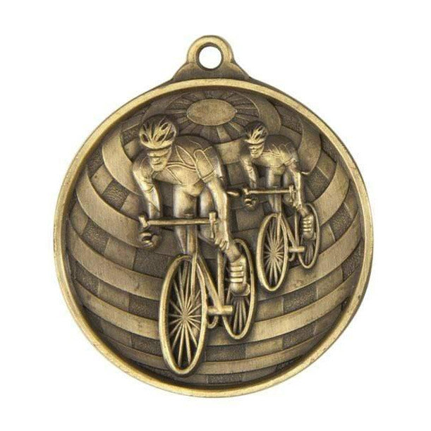 Global Cycling Medal available in Gold, Silver and Bronze - The Trophy Superstore
