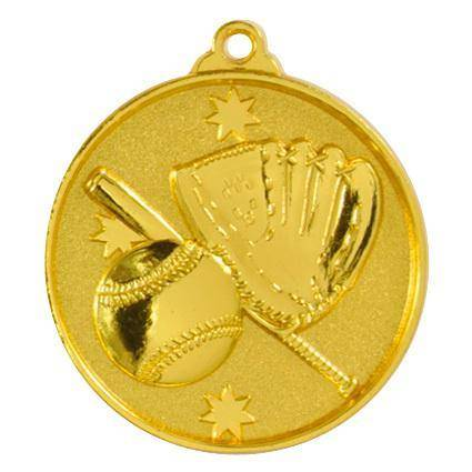 Gold Baseball Medal - 50mm - The Trophy Superstore