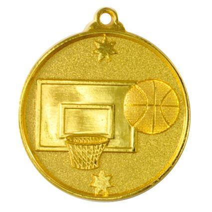 Gold Southern Cross Basketball Medal - 50mm - The Trophy Superstore