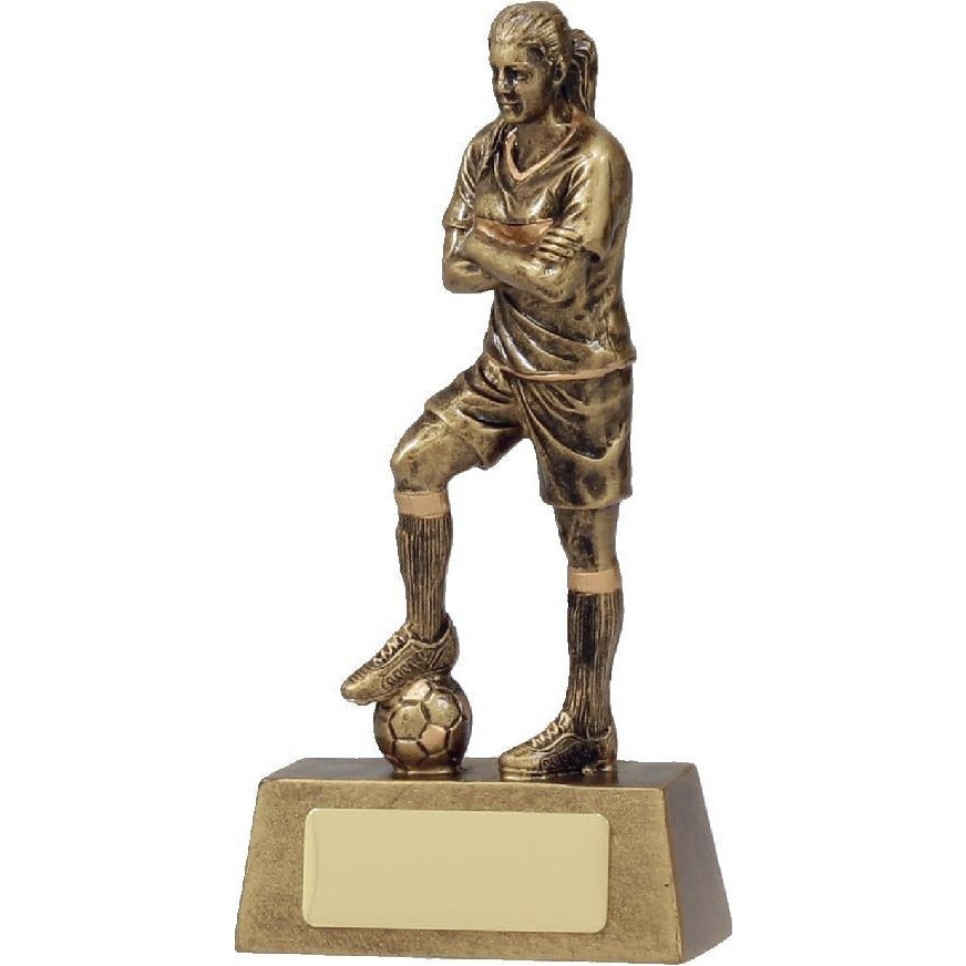 Hero Series Female Football Trophy