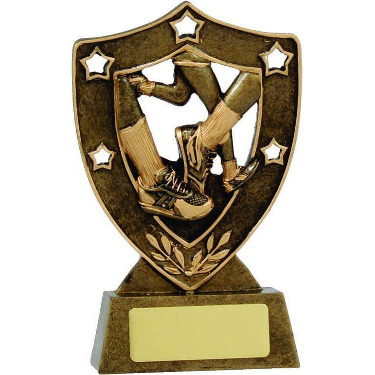 Star Running Shield - 135mm - The Trophy Superstore