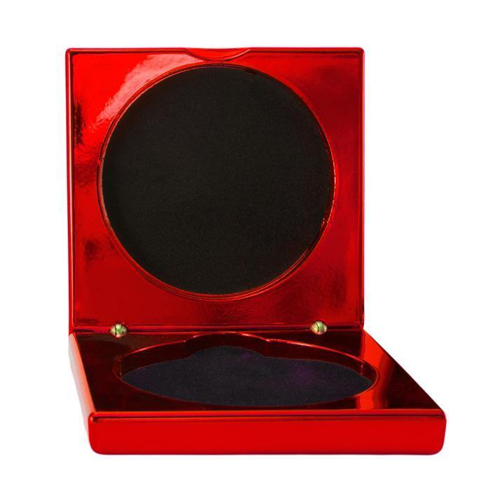 Metallic Red Medal Cases freeshipping - The Trophy Superstore