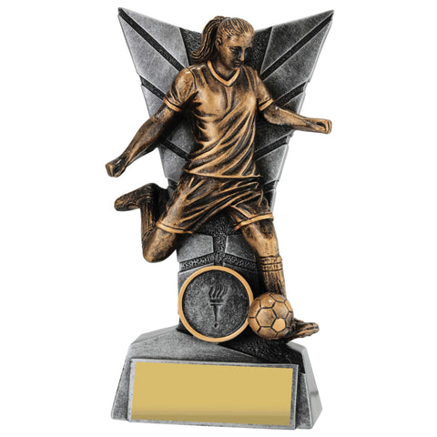 Delta Series Female Football Trophy freeshipping - The Trophy Superstore