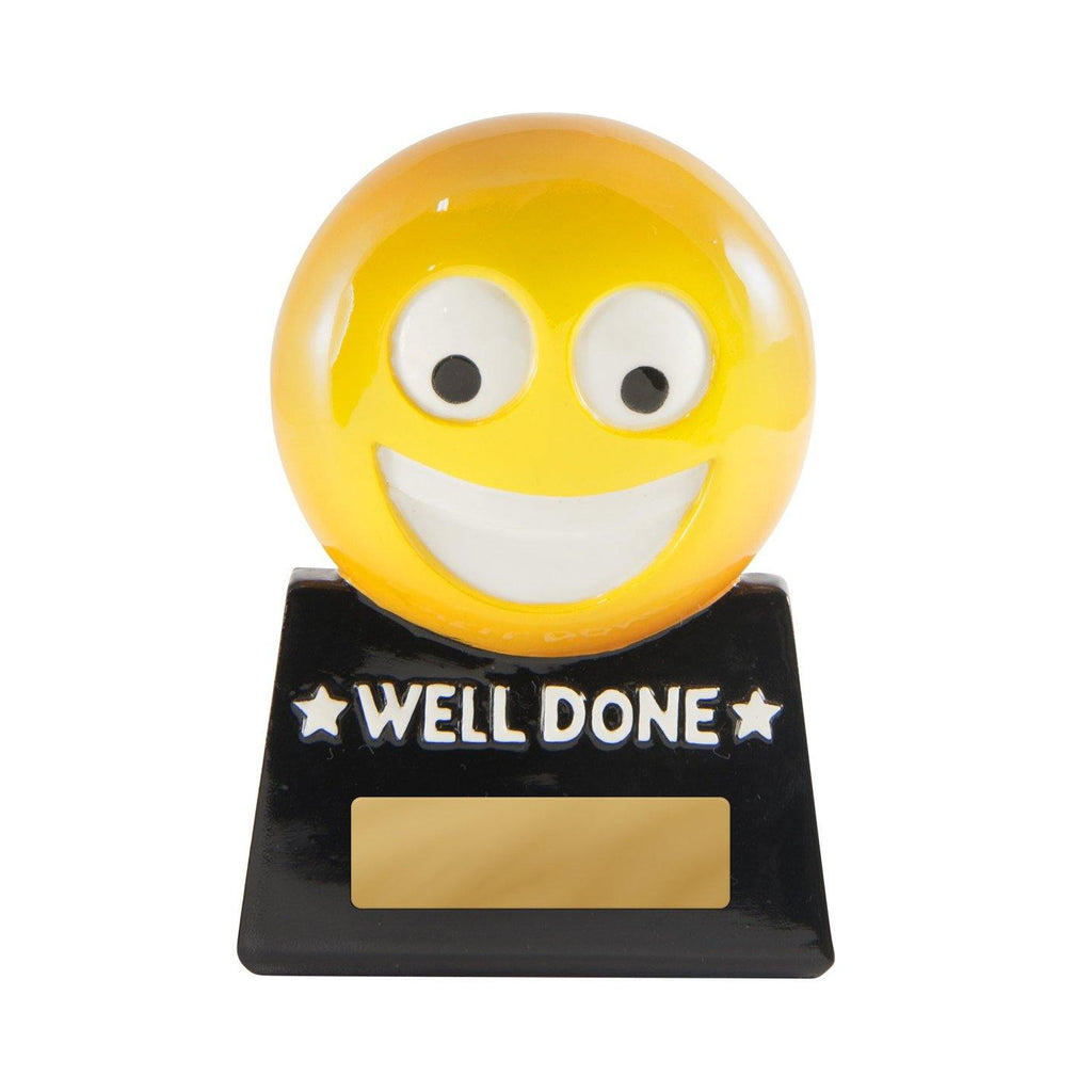 Well Done Emoji Award - 87mm - The Trophy Superstore