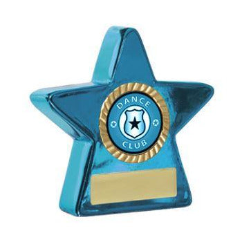 Blue Metallic Star - Small - The Trophy Superstore