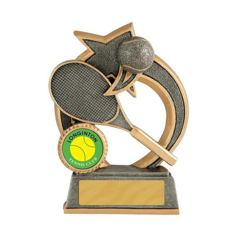 Swoosh Series Tennis Trophy freeshipping - The Trophy Superstore