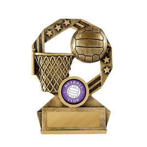 Bronzed Aussie Series Netball Trophy freeshipping - The Trophy Superstore