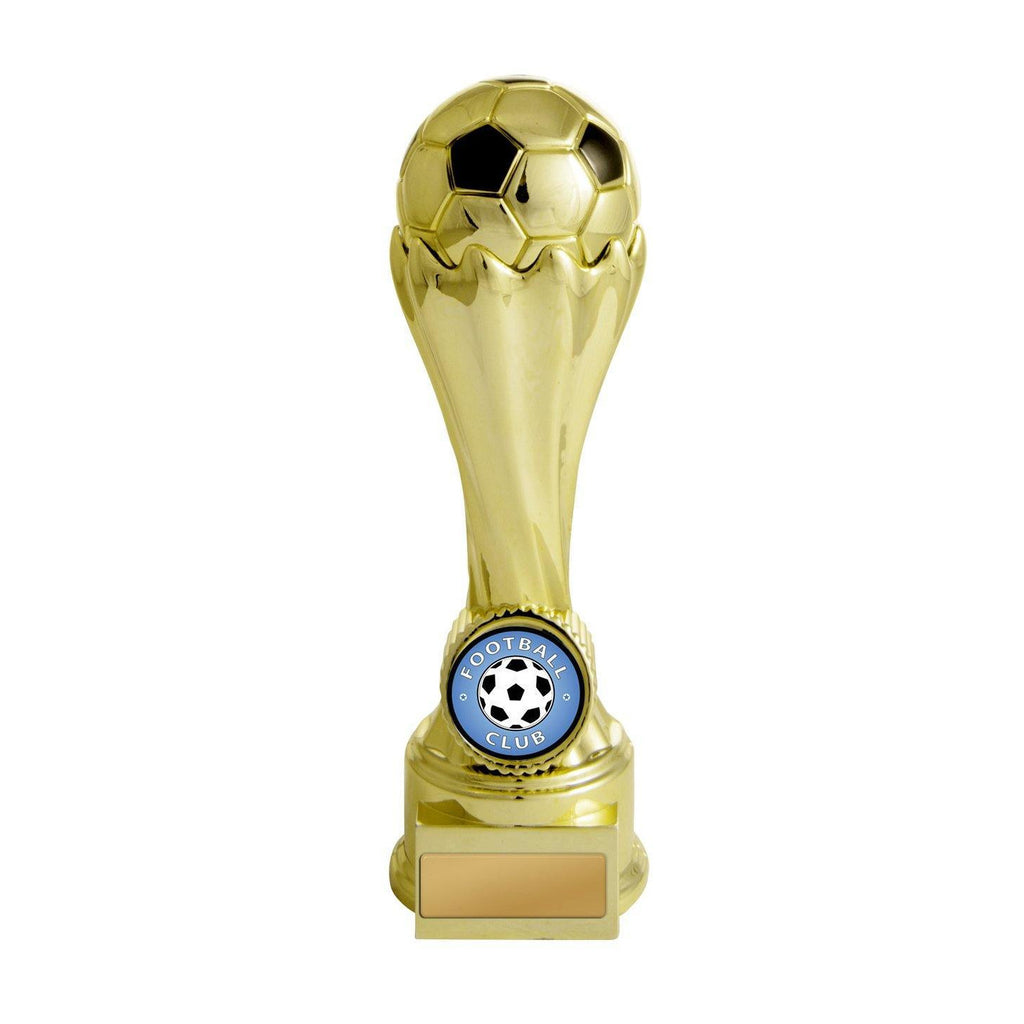 Football Invincible Tower Gold Trophy - 630GVP-9A - The Trophy Superstore