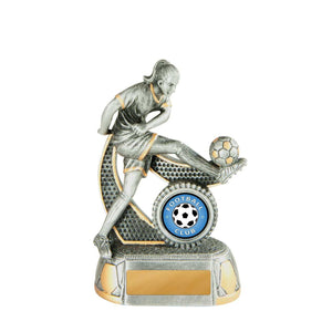 Megastar Female Football Series Trophy freeshipping - The Trophy Superstore