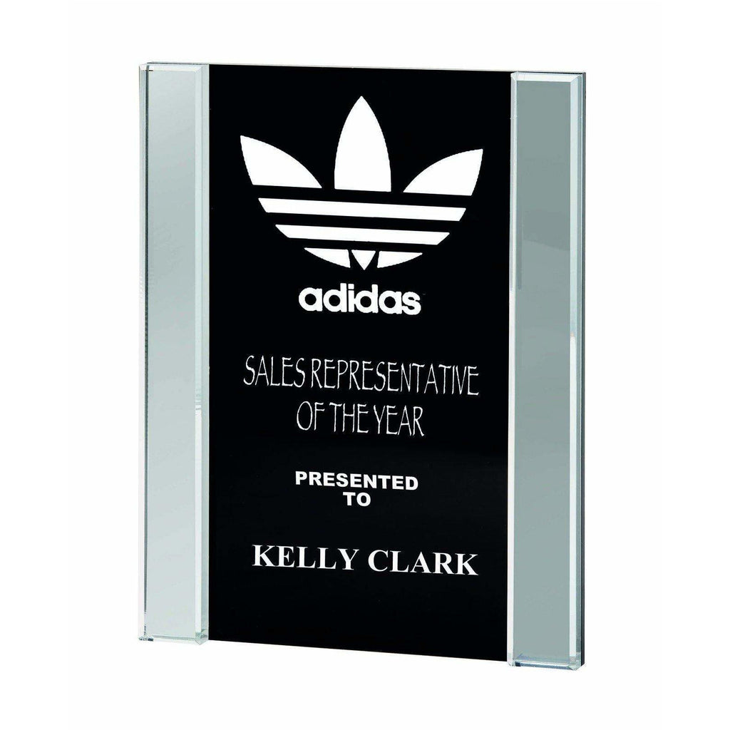Black & Clear Acrylic Block - The Trophy Superstore