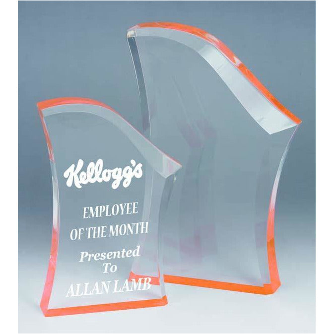Peak Orange Acrylic Award