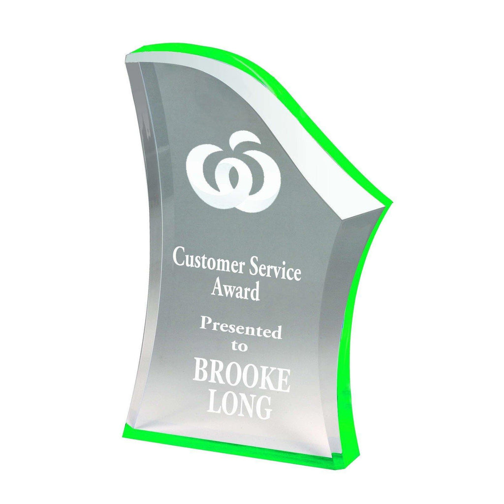 Peak Green Acrylic Award - The Trophy Superstore