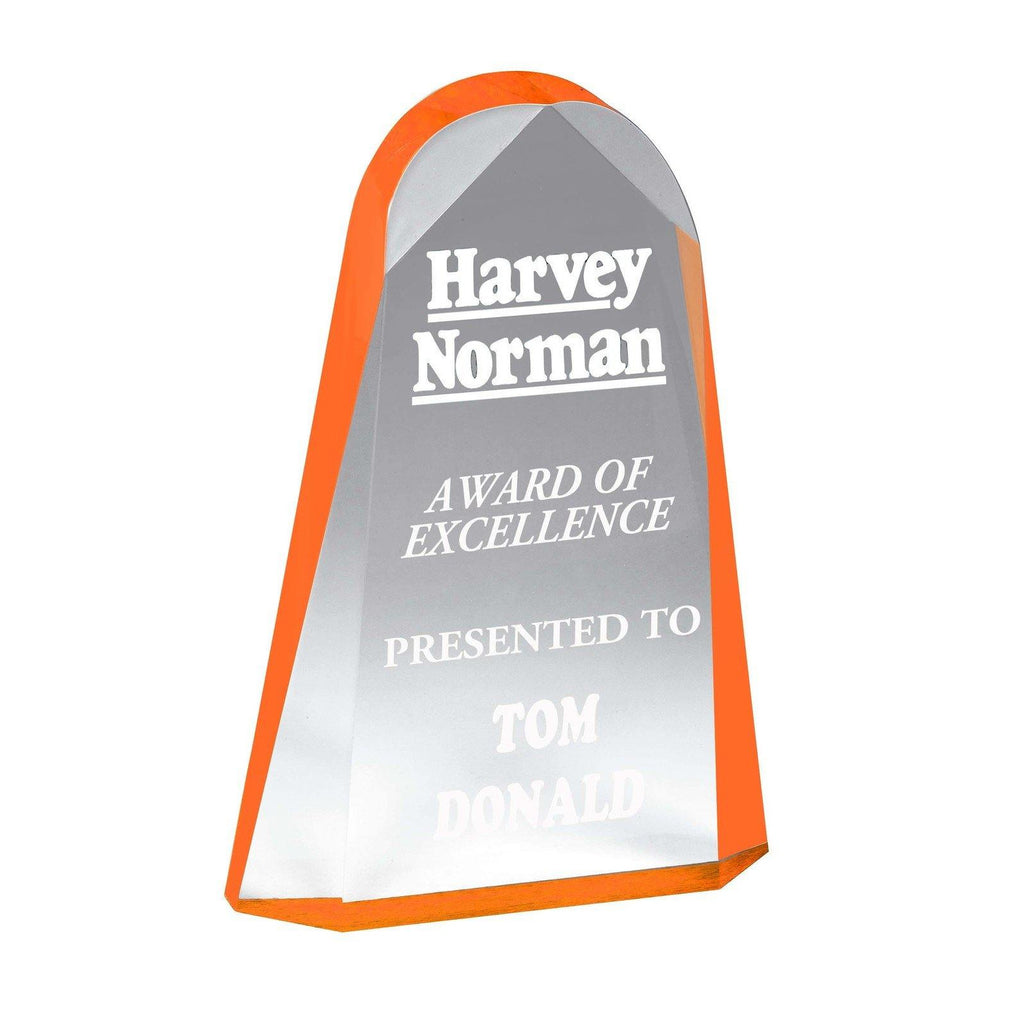 Reflection Orange Acrylic Award - The Trophy Superstore