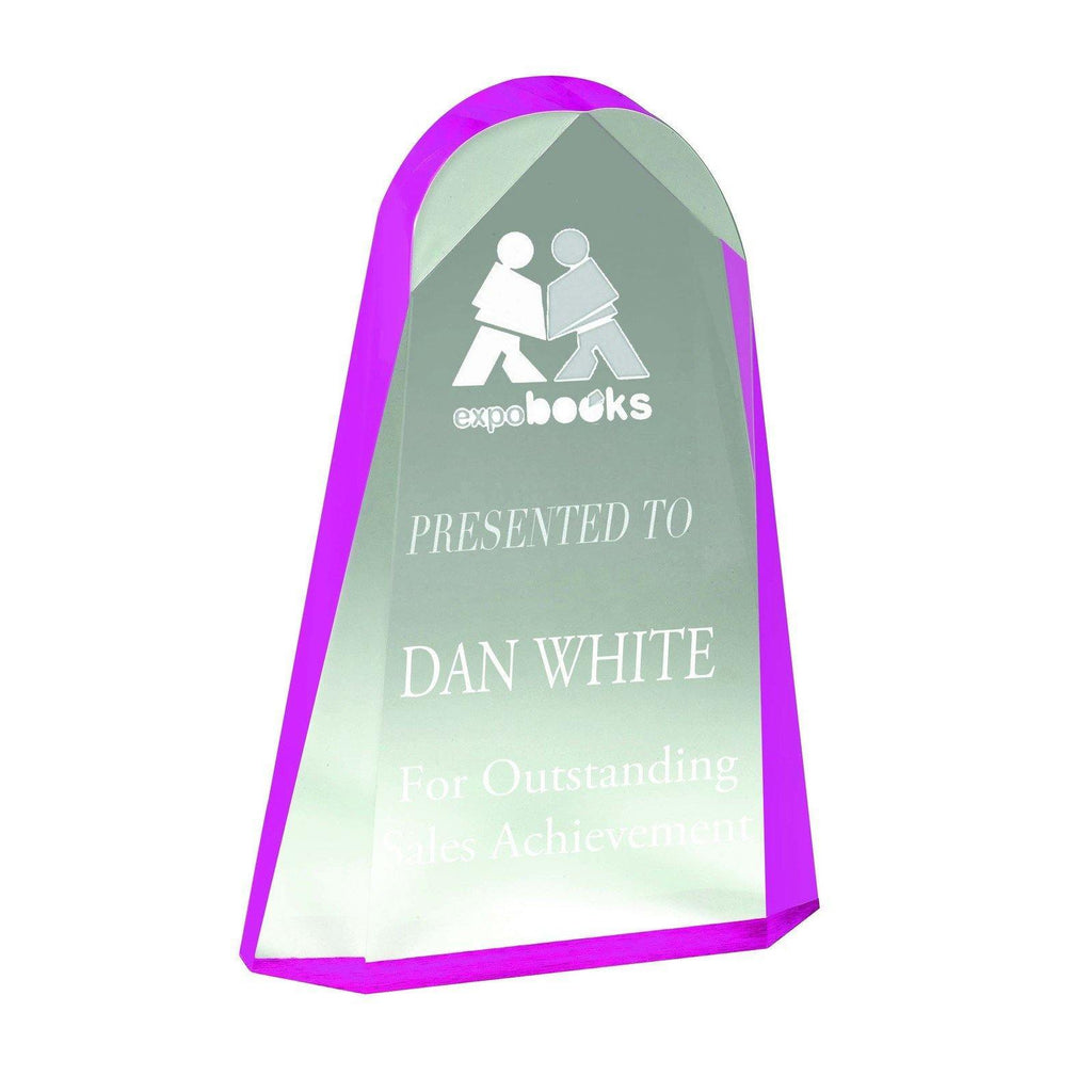 Reflection Pink Acrylic Award - The Trophy Superstore