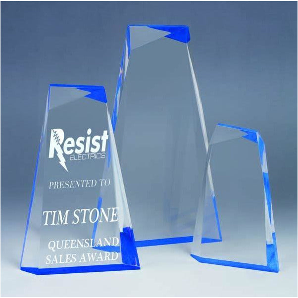 Ascend Blue Acrylic Award