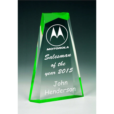Image of Ascend Green Acrylic Award freeshipping - The Trophy Superstore