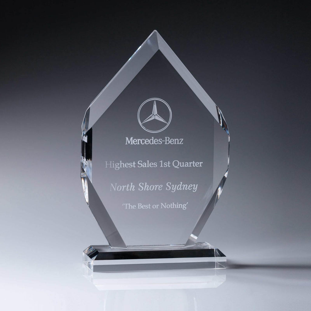 Starfire Arrow Acrylic Award available in three sizes - The Trophy Superstore