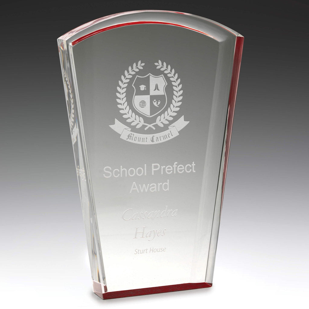 Red Acrylic Solar Award