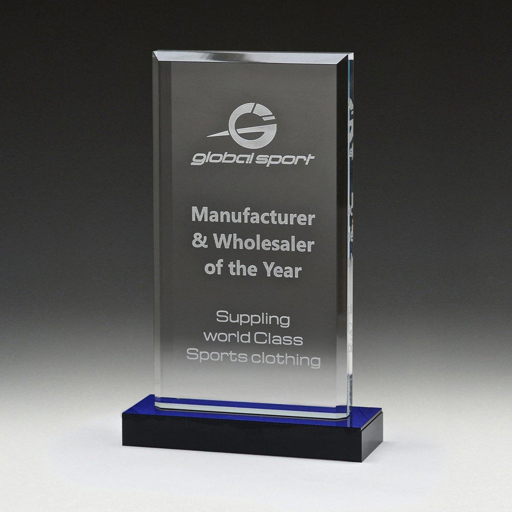 Blue Mirror Acrylic Award