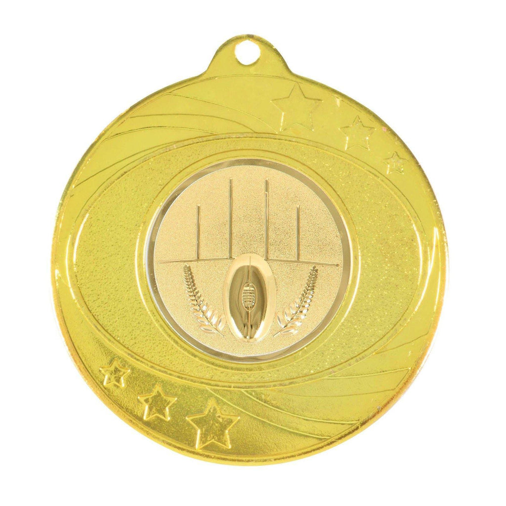 Gold Generic Medallion -50mm Pattern 7 - The Trophy Superstore