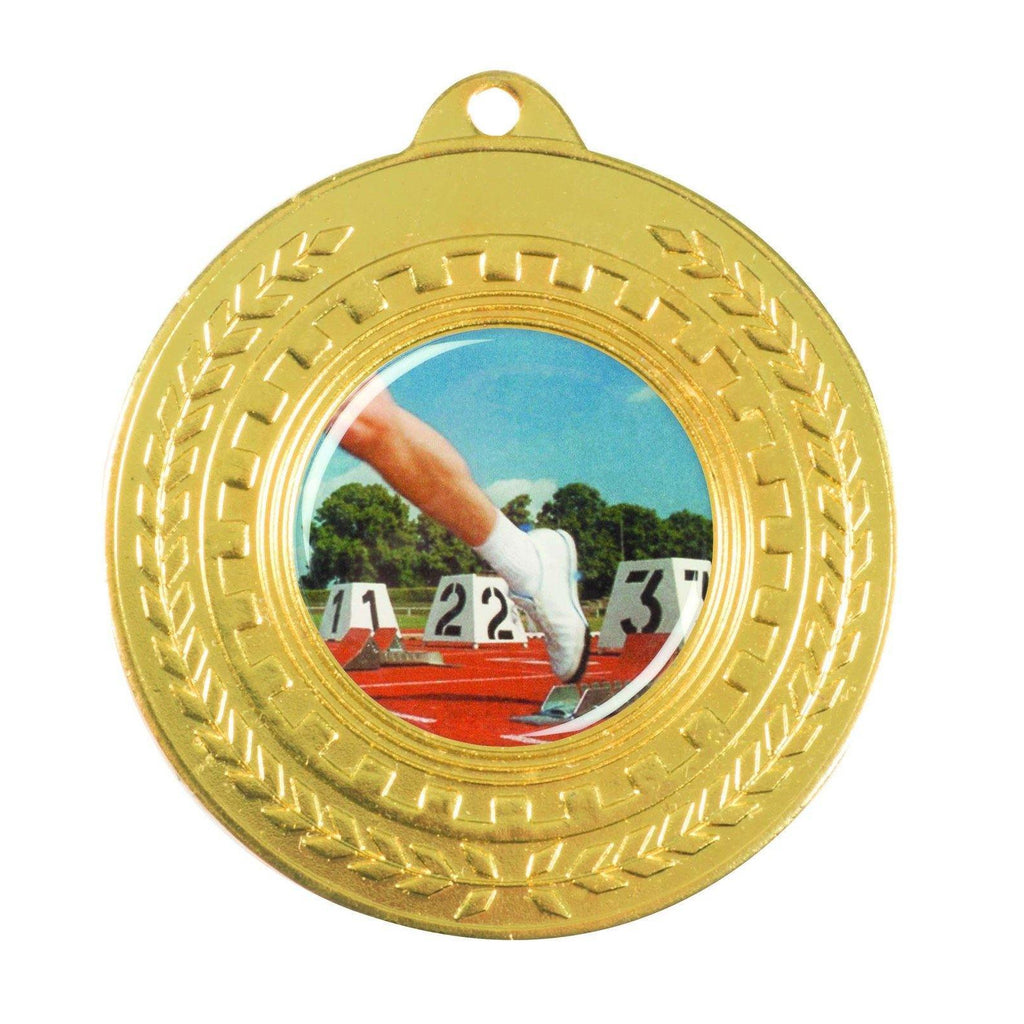 Gold Generic Medallion -50mm Pattern 8 - The Trophy Superstore