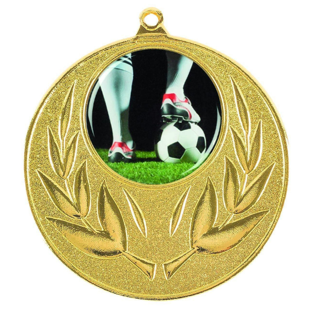 Gold Generic Medallion -50mm Pattern 9 - The Trophy Superstore