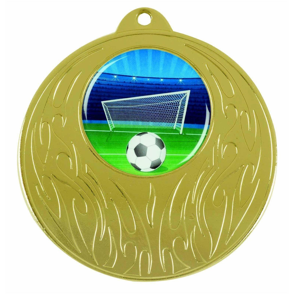 Gold Generic Medallion -50mm Pattern 10 - The Trophy Superstore